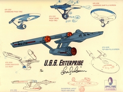 U.S.S. Enterprise <br>Signed Model Cel