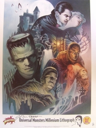Universal Monsters Signed Litho