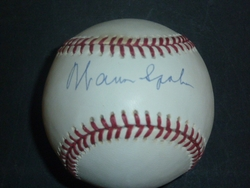 Warren Spahn Signed Baseball