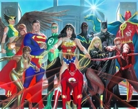 Where Justice Resides <br> Paper - JLA - Warner Bros. By Clampett Studios