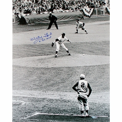 Whitey Ford 1961 WS <br>Game 1 Photo w/  Insc.