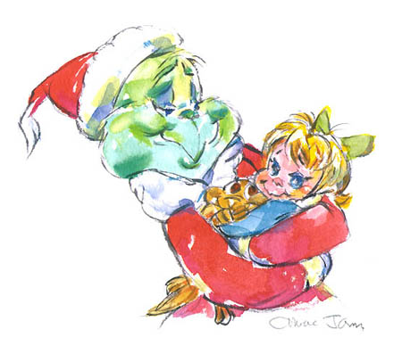 Who Hug Grinch, Cindy Lou & Max - How The Grinch Stole Christmas ...