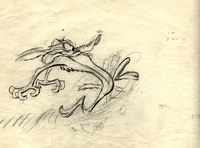 Wile E Coyote Original Production Drawing - Production Drawings
