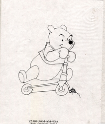 Winne the Pooh on a Scooter