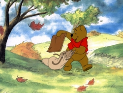 Winnie the Pooh with<br> a bag OPC