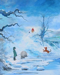 Winter in The 100 Acre Wood <br>from Winnie The Pooh Canvas