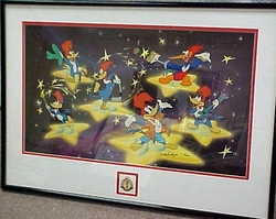 "Woody Woodpecker ""50 Years A Star"" signed Walter Lantz"