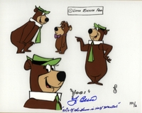 Yogi Bear & Booboo Cel <br>Signed by Yogi berra - Yogi Bear