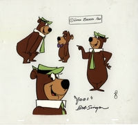 Yogi Bear & Booboo Model Cel Signed - Yogi Bear