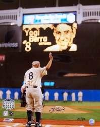 Yogi Berra Waving Goodbye