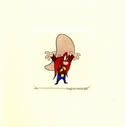 Yosemite Sam With His<br> Arm Up Small Etching