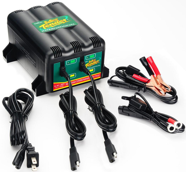 Image of 12 Volt Battery Tender 2-Bank Multiple Battery Charger 1.25 Amps