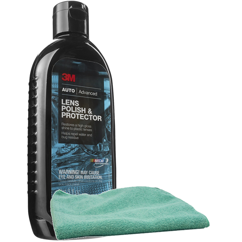 3m lens polish protector 8 oz microfiber cloth kit mmm39010kit. Black Bedroom Furniture Sets. Home Design Ideas