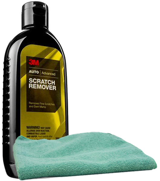 Image of 3M Scratch Remover 8 oz. & Microfiber Cloth Kit