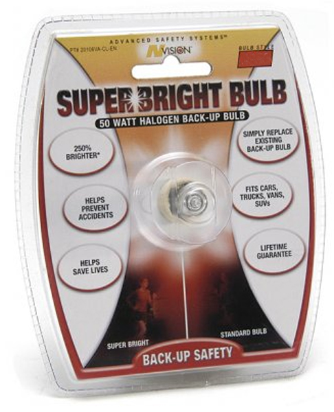 Image of 50 Watt 3156 Style Halogen Super Bright Back-Up Bulb