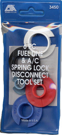 6 Pc Fuel Line And A/C Spring-Lock Disconnect Tool Set