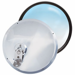 "8�"" Stainless Steel Adjustable Offset Stud Convex Mirror"