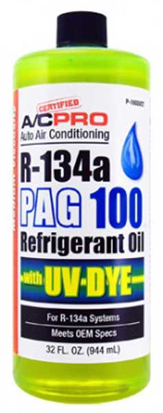 Image of A/C Pro R-134a PAG 100 Refrigerant Oil With UV Dye (32 oz)