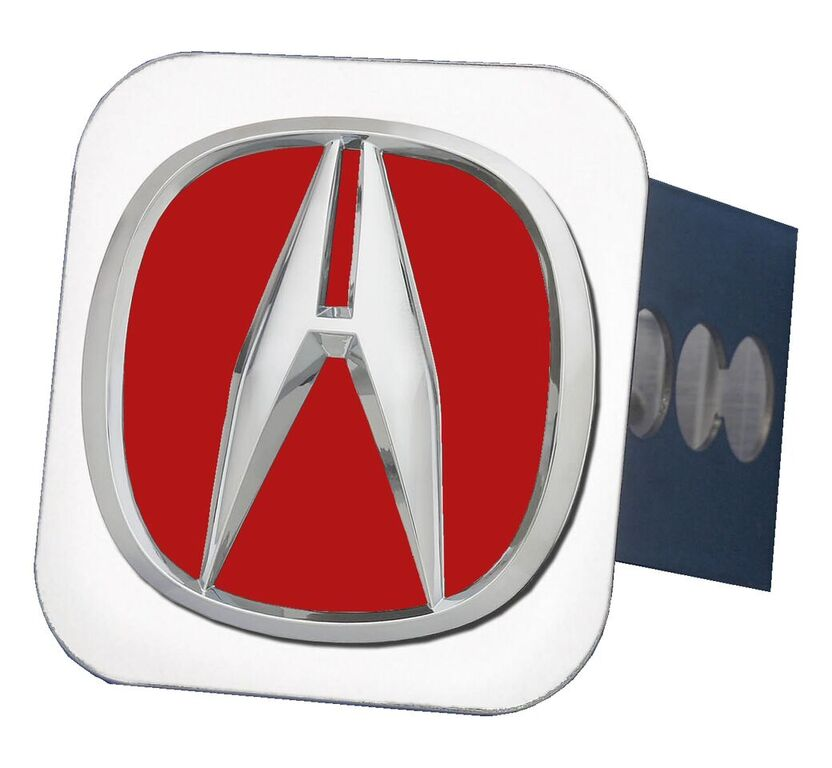 Acura Red Emblem: Chrome Acura Logo Red Fill Stainless Steel Hitch Plug
