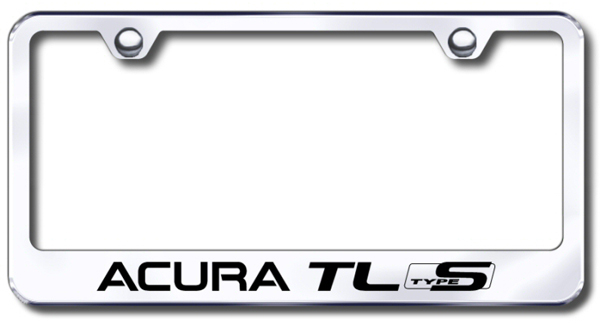 Acura TL S-Type Laser Etched Stainless Steel License Plate Frame ...