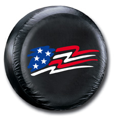 Image of American Flag Spare Tire Cover
