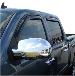 Image of Auto Ventshade 194515 Chevy Avalanche Silverado & Suburban and GMC Sierra & Yukon 4-Piece In-Channel VentVisor 2007-2013