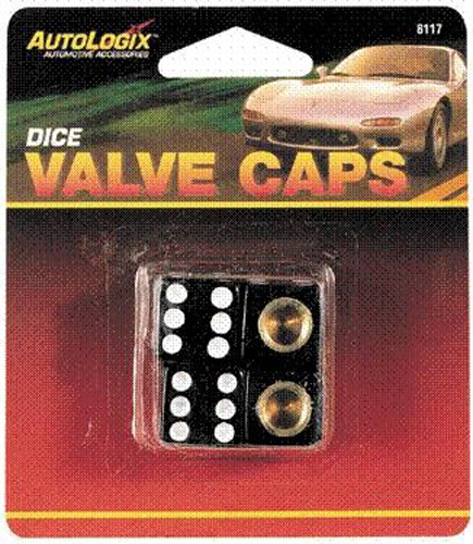 Autologix Dice Tire Valve Caps 4 Pack