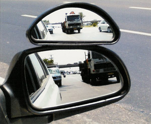 Image of Auxiliary Wide-Angle Side-View Mirror Attachment (Medium)