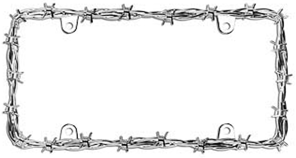 Image of Barbed Wire II Chrome License Plate Frame