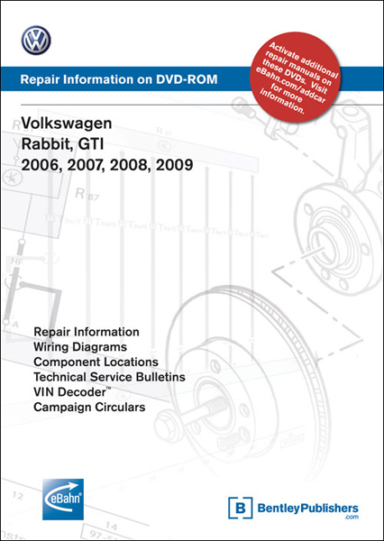 bentley volkswagen rabbit gti repair manual on dvd rom 2006 2009 rh autobarn net vw rabbit service manual pdf 1984 vw rabbit repair manual pdf