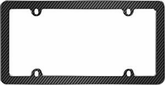 Black/Chrome Fiber License Plate Frame