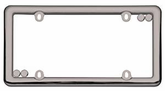 Black Chrome Nouveau License Plate Frame