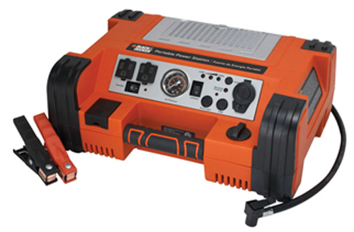 Image of Black & Decker 500 Watt AC/DC Power Station & Air Compressor