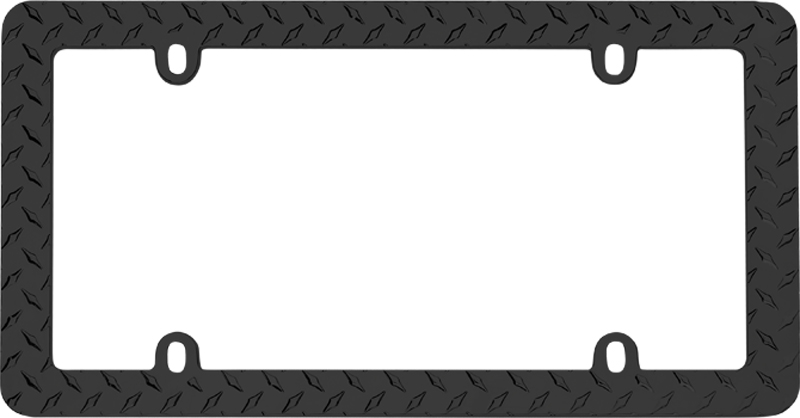 Black Diamond Plate License Plate Frame - CRU30850