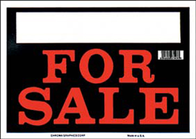 "Image of ""Black & Red For Sale Sign (8"""" x 12"""")"""