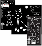 Black & White Family, Animal & Theme Stickers