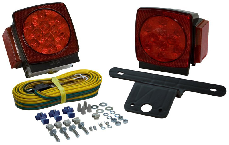 Image of Blazer Square Submersible LED Trailer Light Kit (Pair)