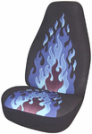 Blue Flame Tweed Universal Bucket Seat Cover