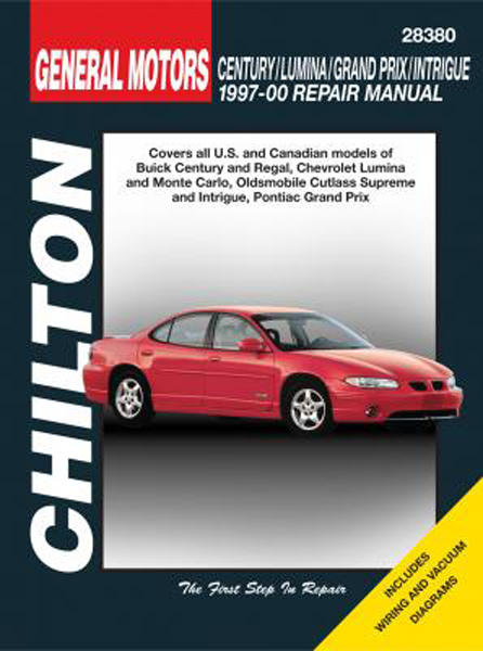 Buick Century Regal Chevy Lumina Monte Carlo Oldsmobile Cutlass Supreme Intrigue Pontiac Grand Prix Chilton Manual on 2000 Oldsmobile Intrigue Repair Manual