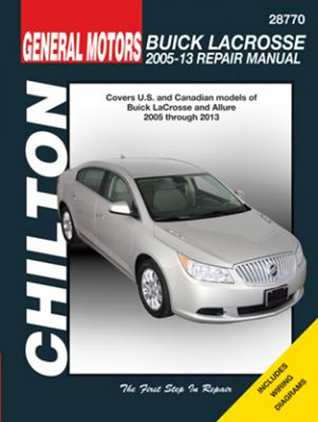 buick lacrosse chilton repair manual  2005-2013
