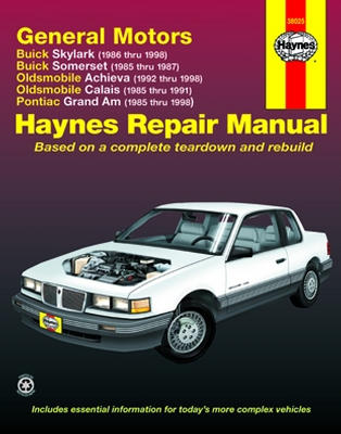 buick skylark and somerset olds achieva and calais pontiac grand rh autobarn net Pontiac Grand AM GT 1998 pontiac grand am owner's manual