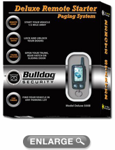 bulldog security lcd deluxe remote starter keyless entry. Black Bedroom Furniture Sets. Home Design Ideas