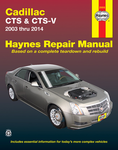 Cadillac CTS and CTS-V Haynes Repair Manual (2003-2014)