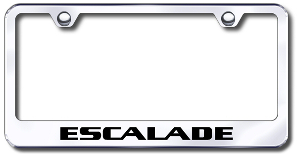 Cadillac Escalade Laser Etched Stainless Steel License Plate Frame ...