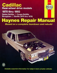 Cadillac Rear-Wheel Drive Gasoline Engine Haynes Repair Manual (1970-1993)