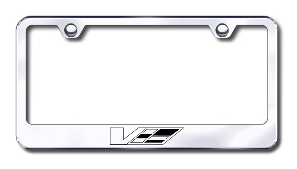 Cadillac V-Series Laser Etched Stainless Steel License Plate Frame ...