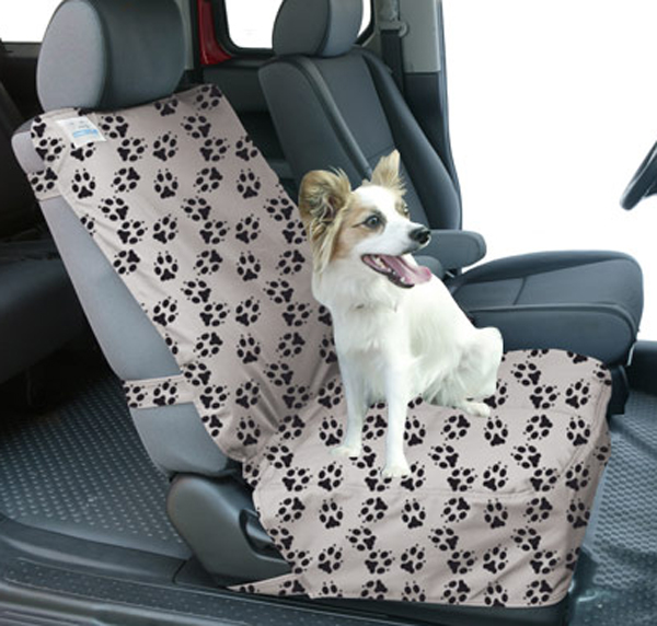 Canine Covers Semi Custom Bucket Seat Paw Print Suede Finish Protector