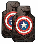 Captain America Shield Rubber Floor Mats (Pair)