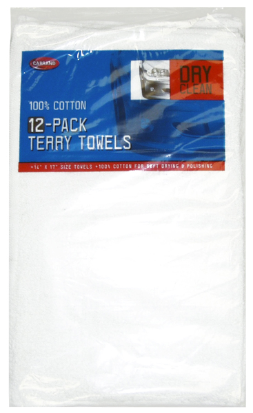 Image of Carrand Cotton Terry Towels (12 pack)