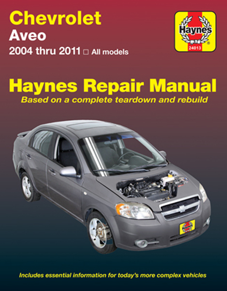 chevrolet aveo haynes repair manual 2004 2011 hay24013. Black Bedroom Furniture Sets. Home Design Ideas